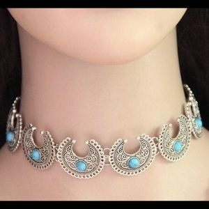 Jewelry - NWOT-GYPSY CRESCENT MOON CHOKER/NECKLACE